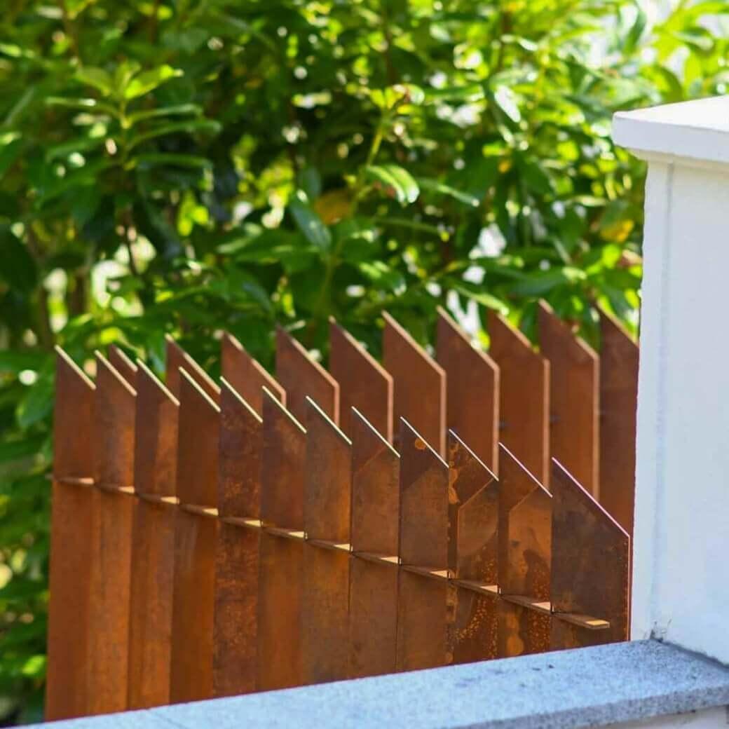 Underhållsfritt Cortenstaket. Unik design med hållbara material från Cortenfabriken.